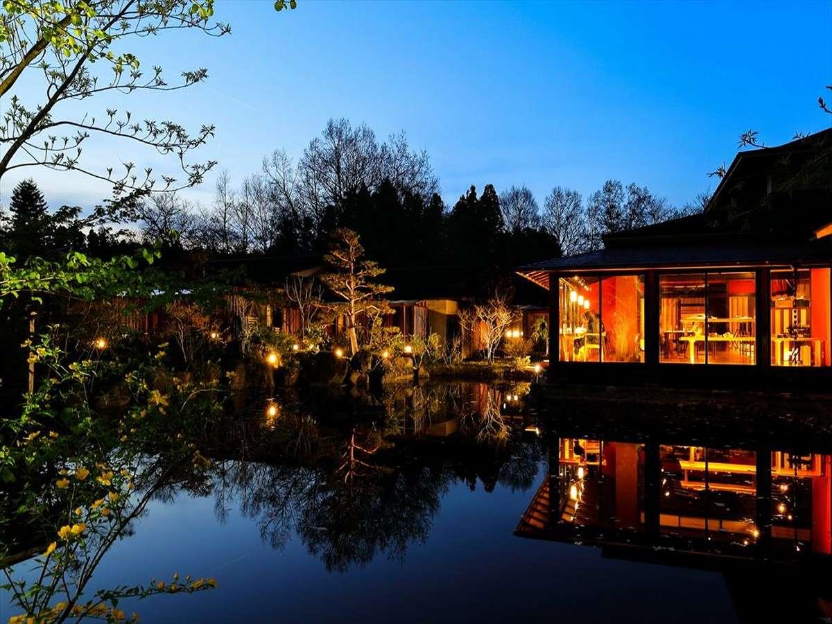蔵王の自然が織りなす幻想的な夜景