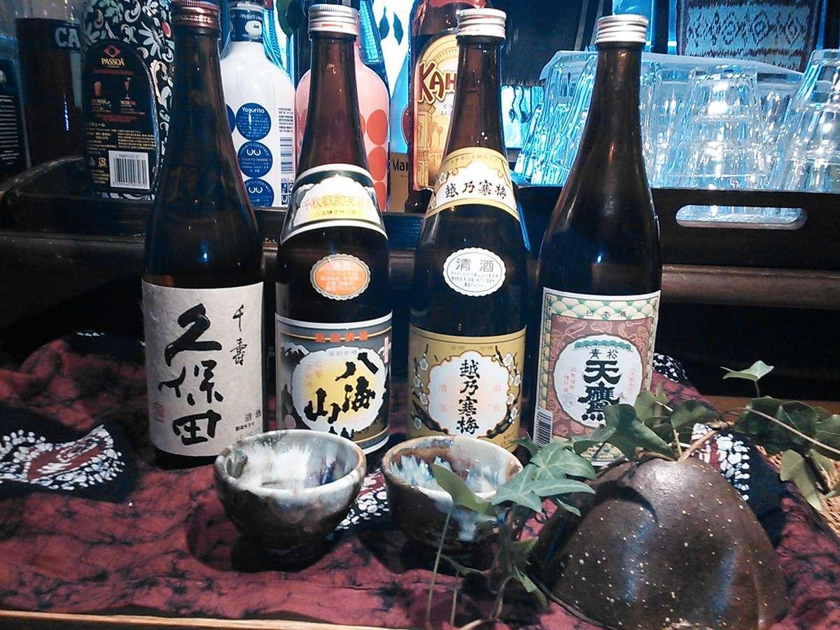 日本酒が豊富になりました。