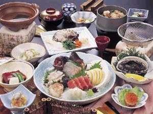あわびと地魚グルメ料理例
