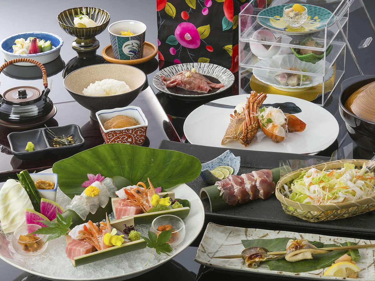 露天風呂付特別室専用創作会席「楓の宴」は客前料理も付く、まさに至高のプラン