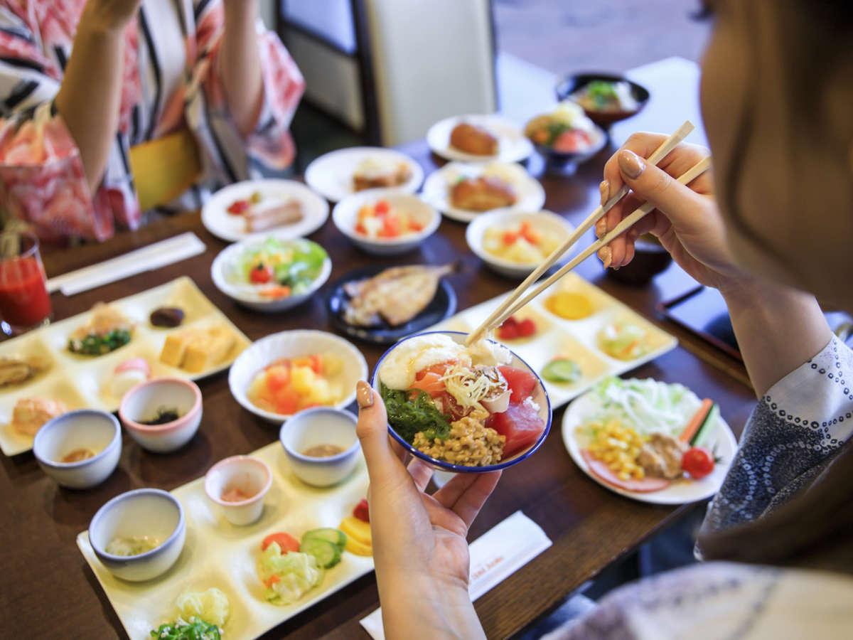 朝もお腹いっぱい食べたくなる!伊東の朝ごはんメニューが魅力の朝食バイキング