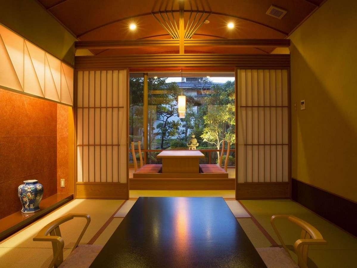【別邸美悠客室】8室のみ美松の特別室 65平米 ソファーセット付 小上がりマットレス