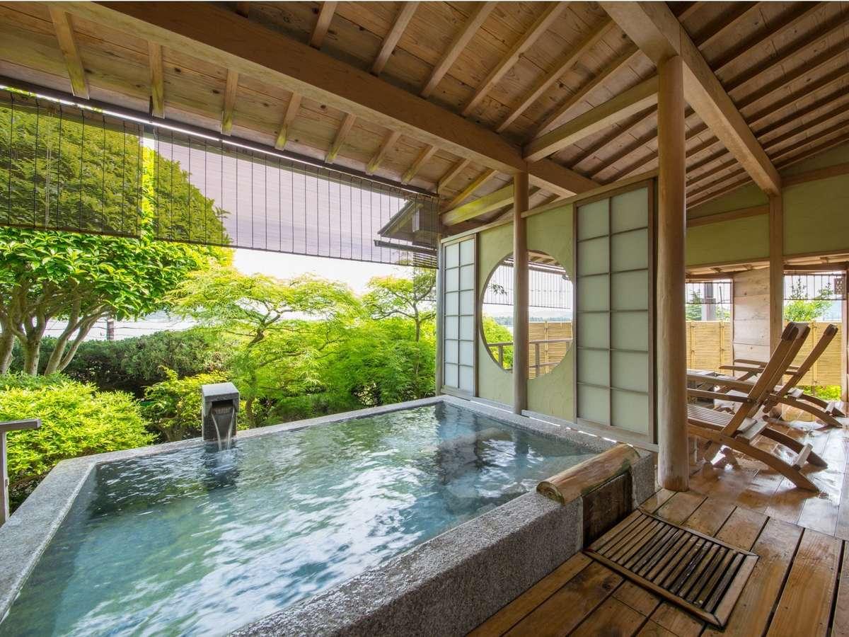 【露天風呂付・和室】天橋立を一望する開放感溢れる客室露天風呂で贅沢な休日。
