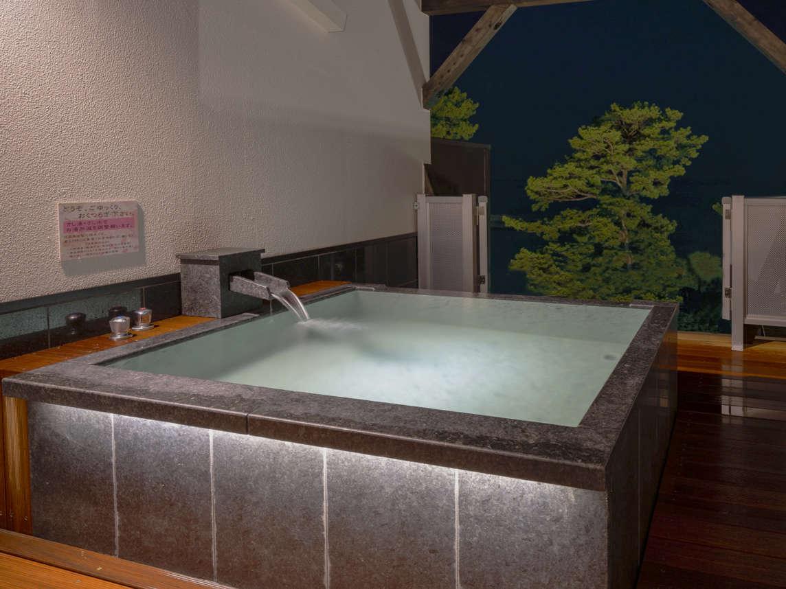 2020年8月オープン。4つ目の展望貸切露天風呂『風』24時間無料でご利用いただけます