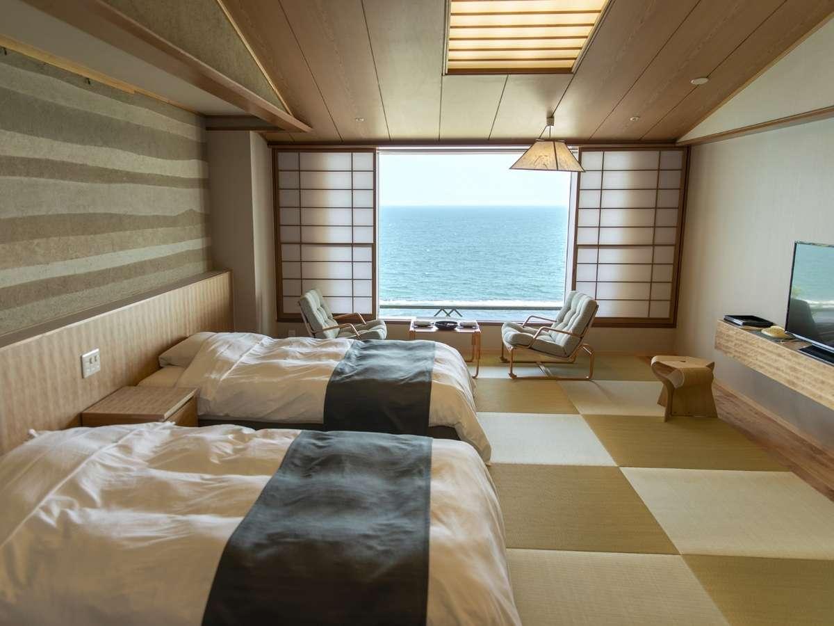 最上階海側和室+ツインベッド