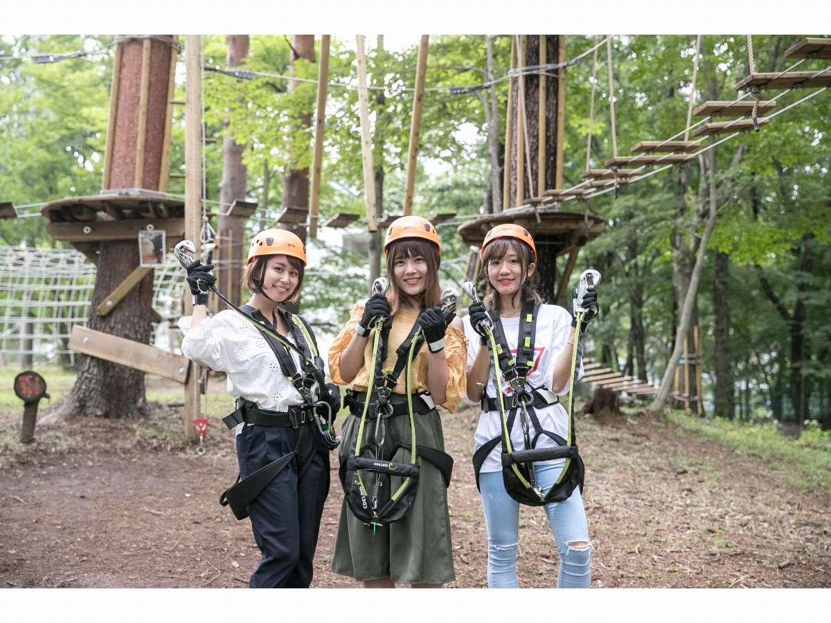 那須の森の空中アスレチック『NOZARU』宿泊者は特別価格で利用できます♪