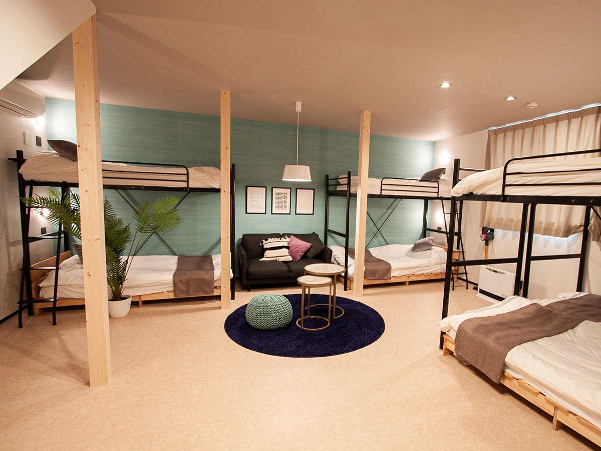 ルームAベッド・二段ベッド