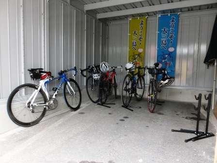 駐輪場です。車庫ですので安心して保管できます。