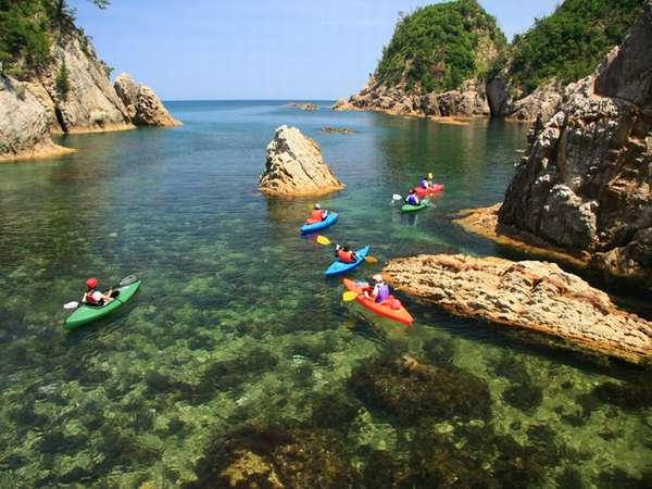 ジオラマパーク<浦富海岸でカヌー体験>はいかがでしょうか!?