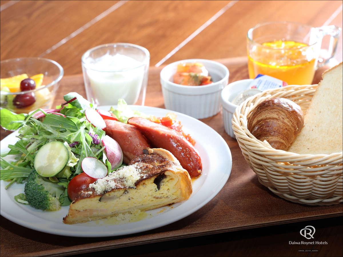 朝食「洋食」※季節や仕入れ状況により、メニューの一部が変更になる可能性がございます