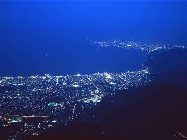 十文字原からの夜景