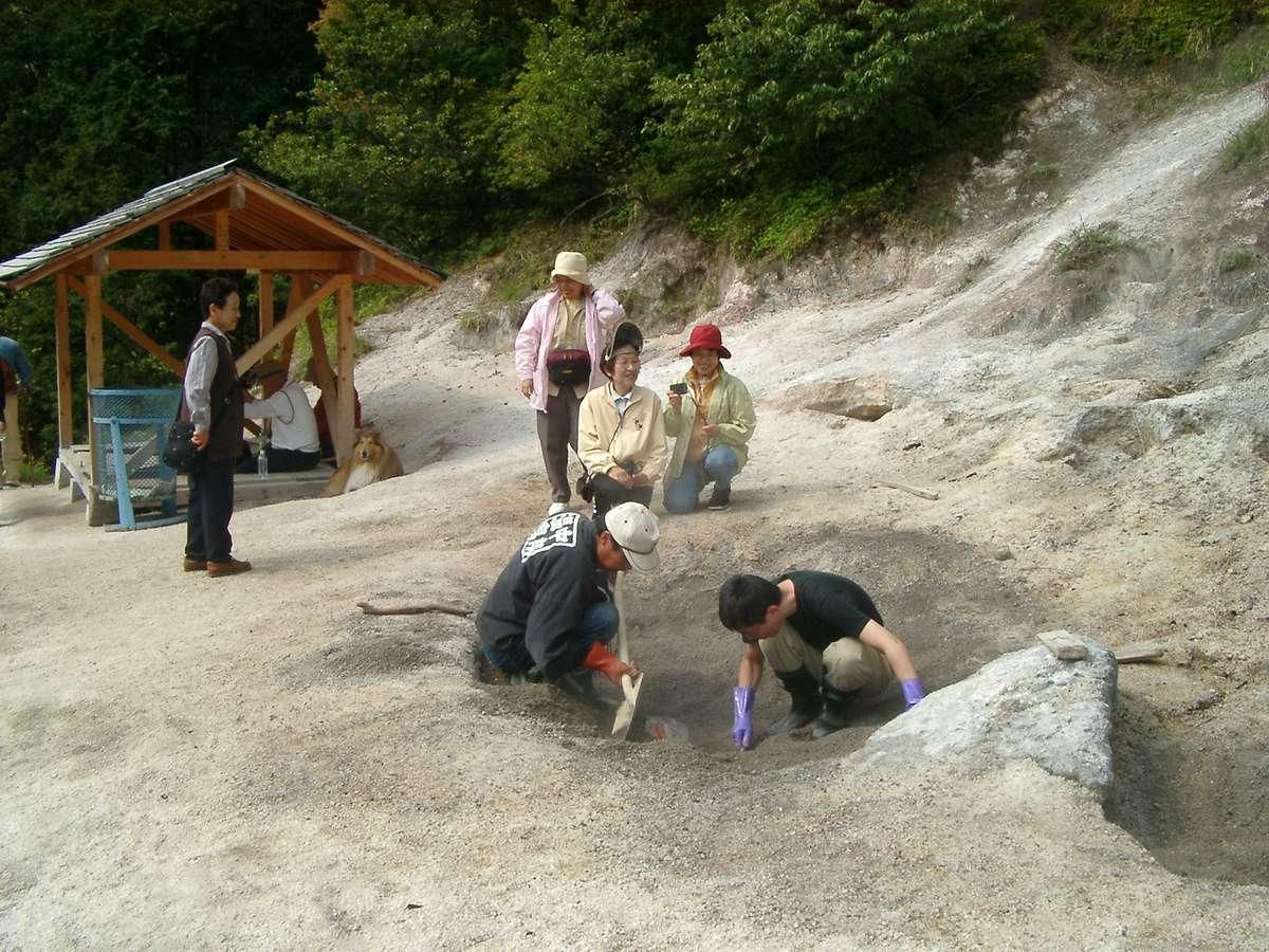 焼山での地熱遊び