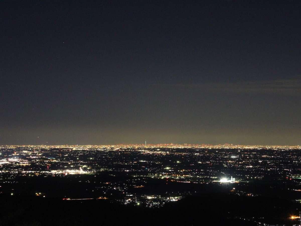 東京方面の夜景