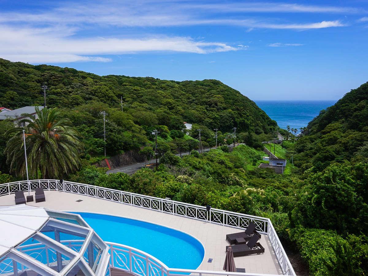 太平洋を見下ろす高台に位置し「全客室露天風呂」を備えたオーシャンビューホテルです♪
