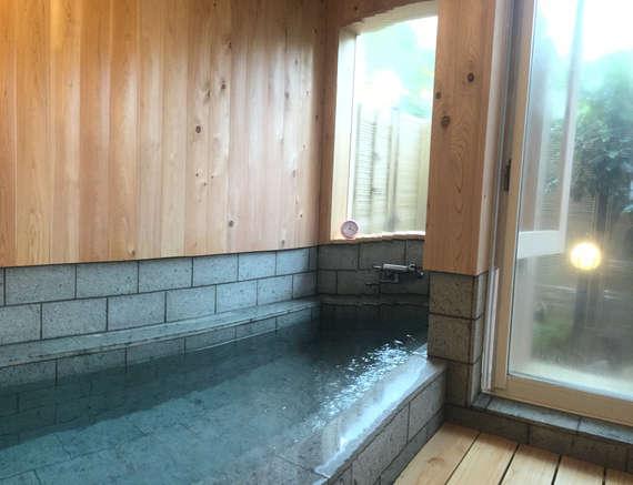 貸切風呂は2017年4月にリフォーム済み!浴槽も拡張!のんびりリラックスタイムをお楽しみください♪