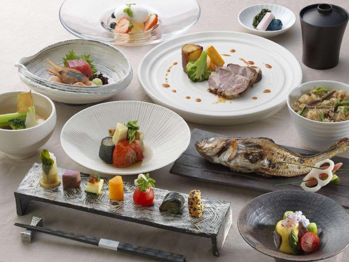 ◆山の謌会席/四季の旬素材をいかした、お手軽にお愉しみいただける和食会席。(イメージ写真)