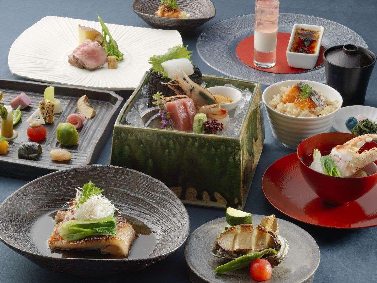 ◆天の謌会席/仕込みから一品一品丁寧に作る和食は、繊細かつ華やか。(イメージ写真)