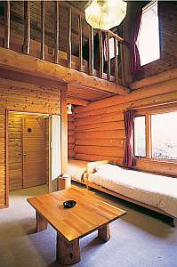 鹿沢リゾートホテル:メゾネットのゲストルーム