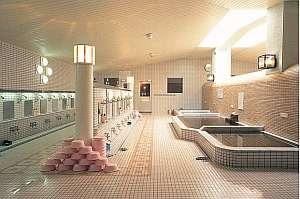 みどりヶ丘温泉サウナビジネスホテル:温泉大浴場 ソフトな肌ざわり、体のシンから温まります