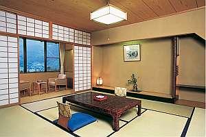 下呂温泉 湯之島館:景山荘の客室の一例です。景山荘では客室でも下呂温泉を源泉掛け流しでお楽しみ頂けます。