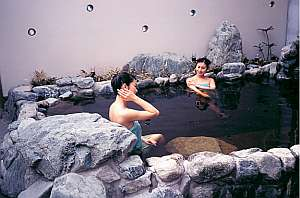 鹿島セントラルホテル:鹿島セントラル温泉ゆの華「露天風呂」