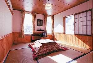雪と蛍の舞う宿 ミストラル:ゆったり落ち着ける和室