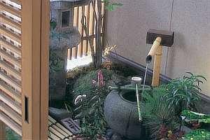 木津屋旅館:玄関脇の風情ある坪庭