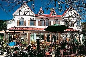 キッチンガーデンのやど pianoタイム:明るい日光が差しこむ館内と、CUTEな前庭