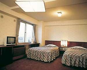半田ステーションホテル:お風呂とトイレが2つあるツインルームです