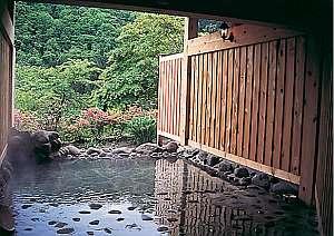 奥入瀬グリーンホテル:大自然に囲まれた癒し空間の露天風呂
