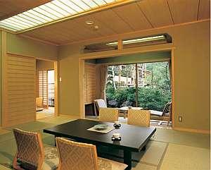 草津温泉 望雲:広々として間取の部屋の一例 色々なタイプの部屋がある