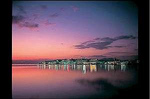 宍道湖の夕日は絶景