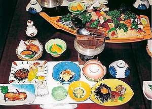きよみ荘:舟盛(5~6人前)付のお料理