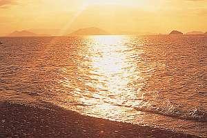 海の幸・夕陽の宿 ペンションサンセットコースト:ダイニングから見るパノラマの景色