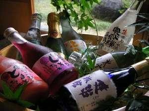 湯情の宿 建治旅館(こんじりょかん):地元特選銘酒と地元産しそジュース・トマトジュースなど各種取り揃えております