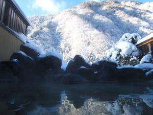 湯情の宿 建治旅館(こんじりょかん):早朝の雪見露天も最高♪