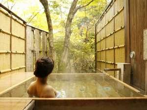 箱根小涌谷温泉 水の音:貸切露天風呂は3ヶ所。何度でも無料でご利用頂けます。湯上りの牛乳やアイスの無料サービスも大好評♪