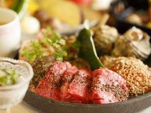 箱根小涌谷温泉 水の音:炙り焼き会席:素材の旨みを引き出し、お好みの焼き加減でお召し上がりください。
