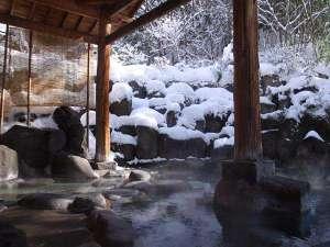 水上温泉郷 諏訪峡温泉 自家源泉かけ流し  天狗の湯 きむら苑:雪見風呂も人気です