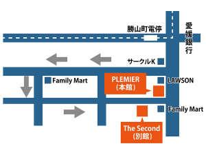 ホテル勝山:周辺マップ