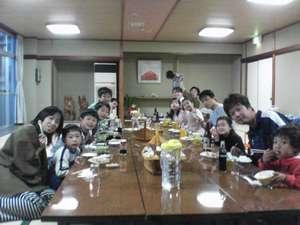 御夕食は各グループで御用意、他のお客様と、一緒にはなりません。
