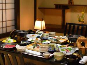 天童温泉 松伯亭 あづま荘:ご夕食は個室会食場でごゆっくりお過ごし下さい。