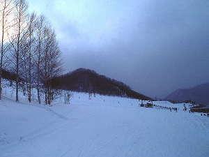 湯宿温泉 太陽館 檜香る貸切露天風呂:スノーシーズン到来!思いっきり滑ろう