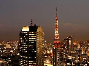 高層階で東京の夜景をお楽しみください。(東京タワー側のイメージ図)