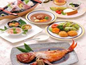 猫のいるお宿 プチホテル・フロマージュ:地金目鯛と伊豆牛ハンバーグの伊豆で贅沢プラン