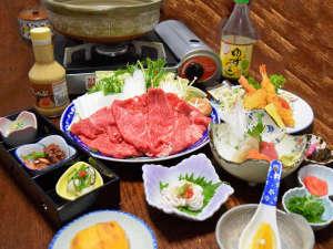 ビジネス旅館やまべ:【牛しゃぶ(一例)】柔らかいお肉で美味しい!一度お試しください。