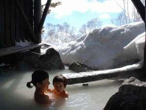 湯ごもりの宿 アダージョ:本館宿泊者専用貸切風呂☆雪見露天が大人気