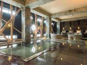 あわら温泉 あわらグランドホテル:【静の湯】 清潔感を感じさせながらも少し照明を落とし、ほのかな明かりがムードを高める