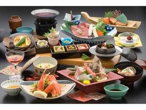 日本の宿 のと楽:和食会席(部屋食の場合のイメージとなります。)