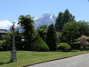 富士山・忍野リゾート センターハウス:庭から見た富士山